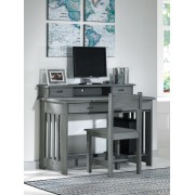 Charcoal Student Desk with Hutch